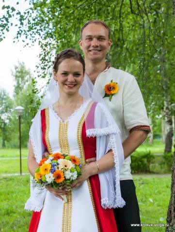 свадебный букет с герберами