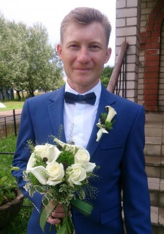 Свадебный букет в бело-зелёной гамме