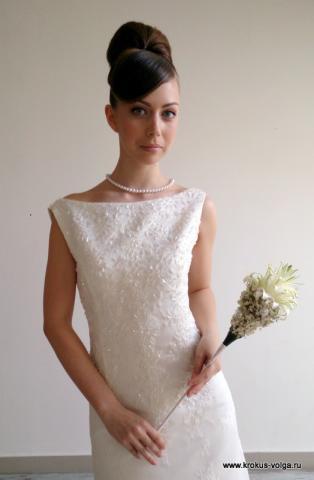 свадебный букет-в форме скипетра