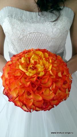 свадебный букет - розомелия