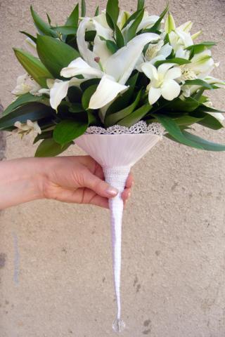 свадебный букет из лилиий