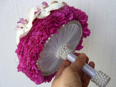 свадебный букет с фаленопсисами