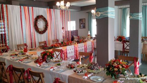 Свадебное оформление банкетного зала