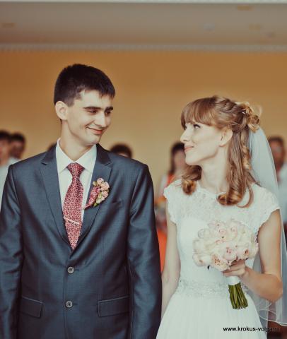 Свадебный букет и бутоньерка