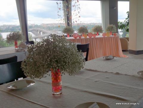 композиции на столах гостей