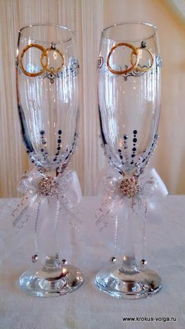 Свадебные бокалы.