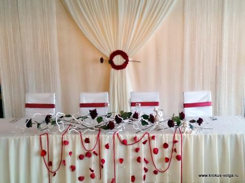 Оформление свадебного президиума.