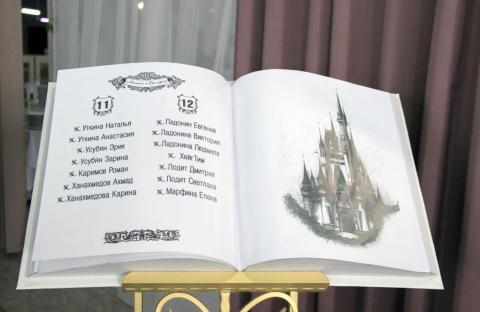 карта рассадки ввиде книги
