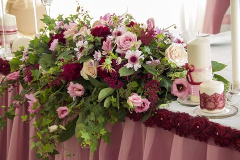 Композиция на свадебный президиум