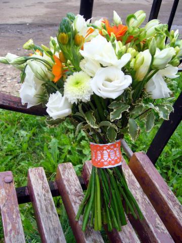 Свадебный букет.Оранжевая свадьба