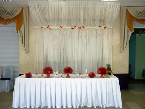 Оранжевая свадьба.Оформление ресторана