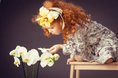 Ева и орхидеи.